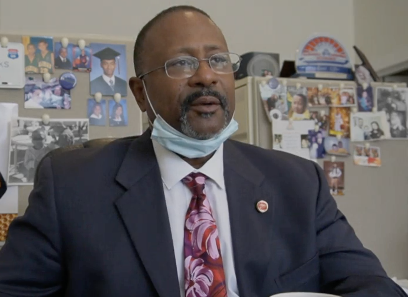 A photographic still image from the video of Elbert Taylor.